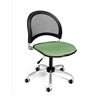 Moon Swivel Chair, Sage Green